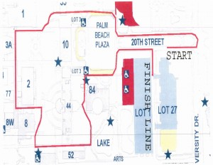 SAF emb(race) 1 mile walk map